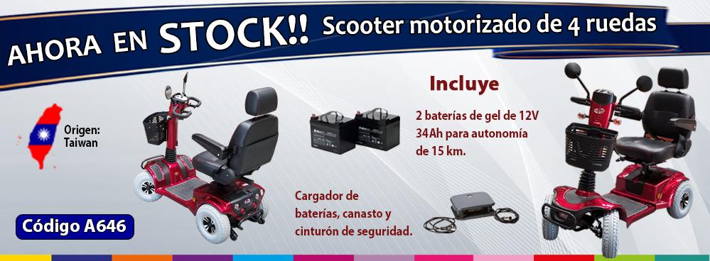 AHORA EN STOCK !!! SCOOTER MOTORIZADO DE 4 RUEDAS !!!