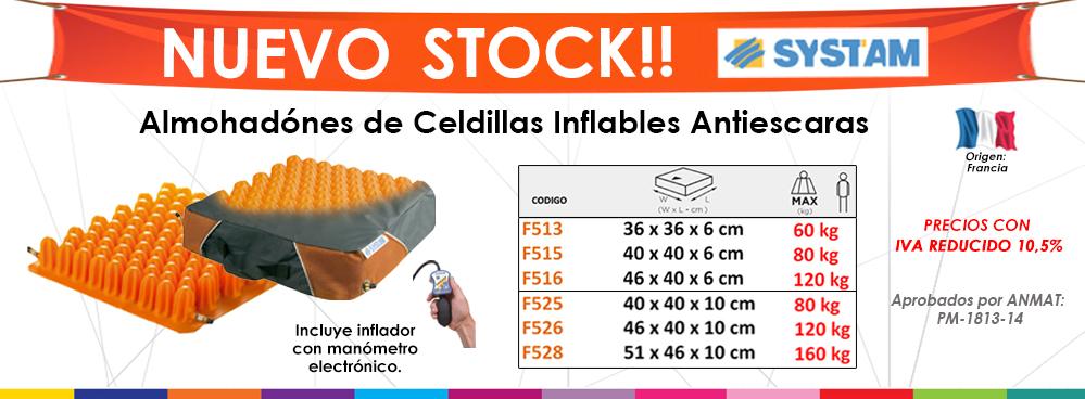 NUEVO STOCK - SYSTAM !!! ALMOHADONES DE CELDILLAS INFLABLES ANTIESCARAS !!!
