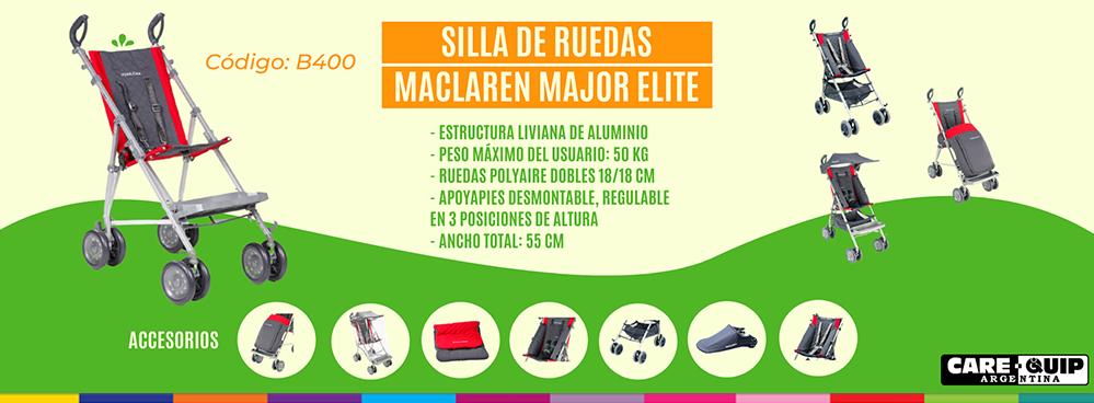 SILLA DE RUEDAS MACLAREN MAJOR ELITE !!!