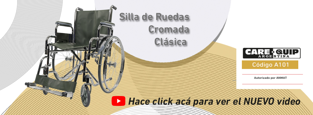 NUEVO VIDEO !!! SILLA DE RUEDAS DE ACERO CROMADO CLASICA - CODIGO: A101 !!!